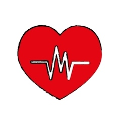 Heartbeat medical healthcare vector
