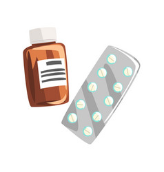 Drugs and pills part of doctor of medicine vector