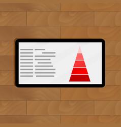 Red pyramid chart vector