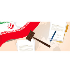 Iran law constitution legal judgment justice vector