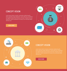 Flat icons money growing chart payment and other vector