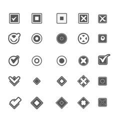 Monochrome geometric symbols of item marking vector