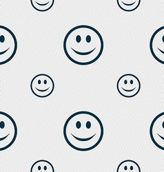 Smile happy face icon sign seamless pattern with vector