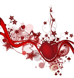 background with the hearts vector image