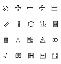 Mathematics icons 1 vector