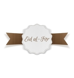 Eid al-fitr decorative festive banner vector