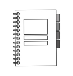 Closed wired notebook icon vector