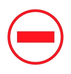 prohibiting signs icon vector image