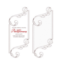a set of two vertical frames in victorian style vector image vector image