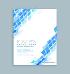 abstract shapes business flyer template vector image
