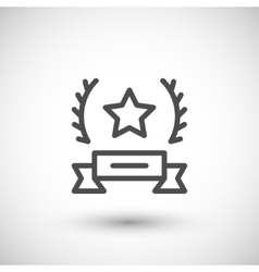 Award line icon vector