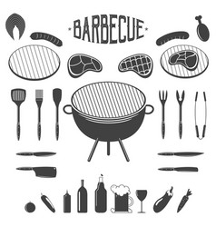 bbq barbecue and grill design elements equipment vector image