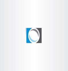 blue black letter o logo sign vector image vector image
