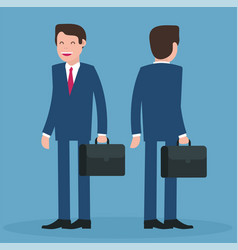cartoon young businessmen vector image vector image