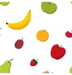 Cute fruits seamless background vector image