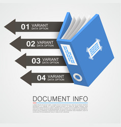 document info art tape color vector image