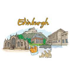 Edinburgh doodles vector