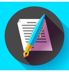 Edit document sign symbol icon Flat vector image vector image