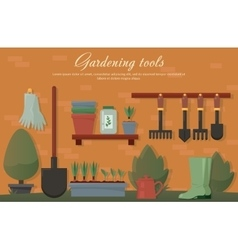 flat of garden agricultural vector image