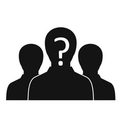 Group of people with unknown personality icon vector