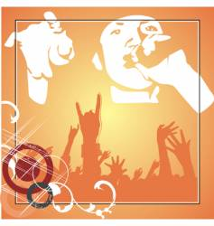 hip hop poster vector image