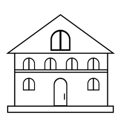 House icon outline style vector image