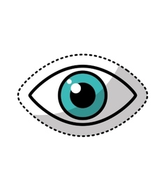 Human eye symbol icon vector