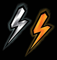 lightning signs vector image vector image