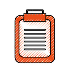 office clipboard checklist report information vector image