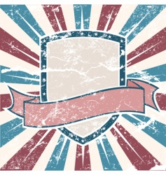 old USA colors shield grunge vector image vector image