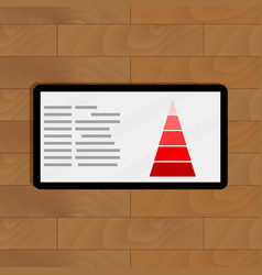 Red pyramid chart vector