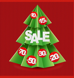 sale poster with fir vector image vector image