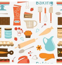 Seamless bakery pattern vector
