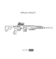 Sniper rifle gun for virtual reality system vector