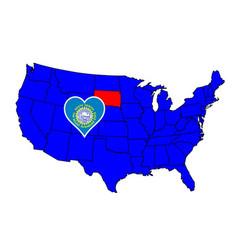 State of south dakota vector