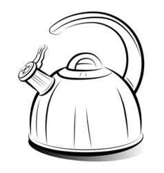 teapot kettle vector image vector image