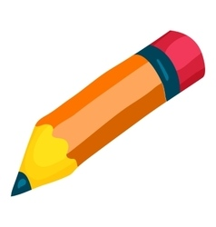 Pencil icon cartoon style vector