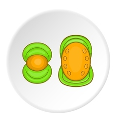 Knee pads icon cartoon style vector