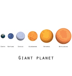 Giant planet planets and stars of the universe vector