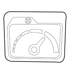 Indicator icon outline style vector