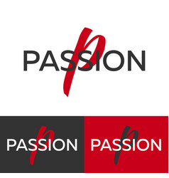passion logo letter p logo logo template vector image