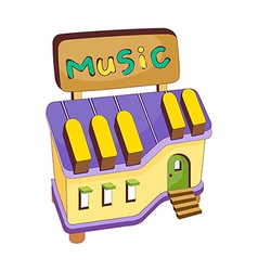 A view of music shop vector image