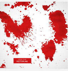 Red blood splatter stain collection vector