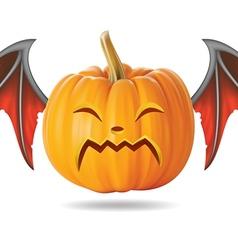 cry pumpkin2 vector image