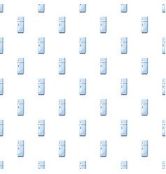 White refrigerator with separate freezer pattern vector