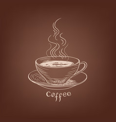 coffee cup cafe vintage poster banner sign coffee vector image