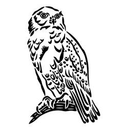 Snow owl vector image