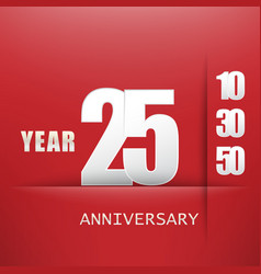 25 years anniversary celebration logo flat design vector