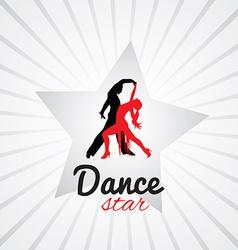 Dancing couple logo vector image