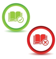 Two book manage icons vector